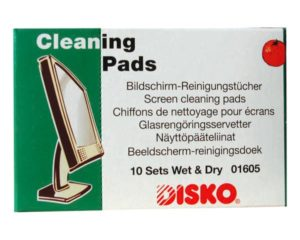 DISKO screen cleaning cloths wet/dry.