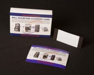 Bank Note Acceptor Cleaning Card.