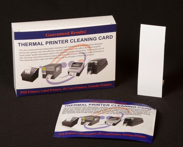 Cashless Ticket Printer Cleaning Card