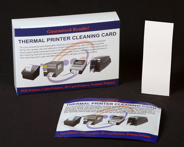 Receipt Printer Cleaning Card 2.5 x 6 Inches