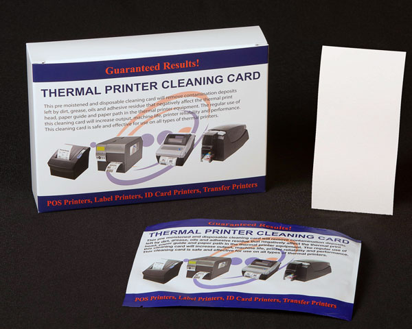 Thermal Printer Cleaning Card 3x 6 inches