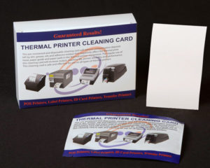 Thermal Printer Cleaning Card 4x 6 inches
